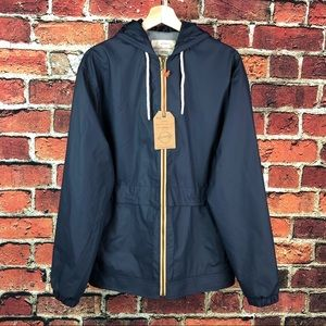 Weatherproof Vintage Hooded Blue Rain Jacket